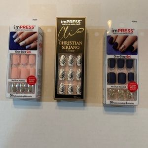 Impress Manicure Press-On Nails 3 New Boxes!